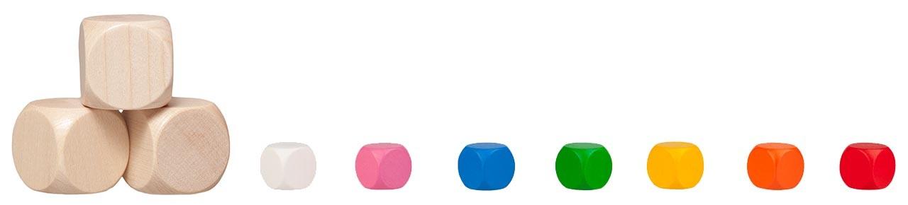 wood dice blank