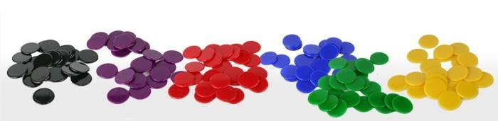 Spielchips aus Kunststoff