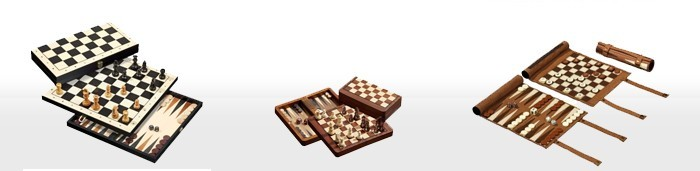Schach-Backgammon-Sets