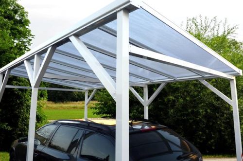 carport aus aluminium freistehend l nge 3m bis 6m breite 2 5m bis 2 9m ebay. Black Bedroom Furniture Sets. Home Design Ideas