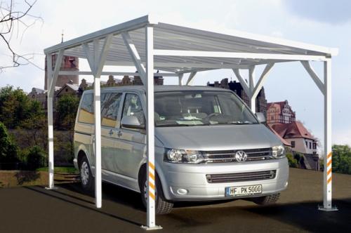 Carport aus Aluminium - freistehend - Länge: 3m bis 6m - Breite: 2 ...