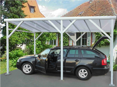 carport aus aluminium freistehend l nge 3m bis 6m. Black Bedroom Furniture Sets. Home Design Ideas