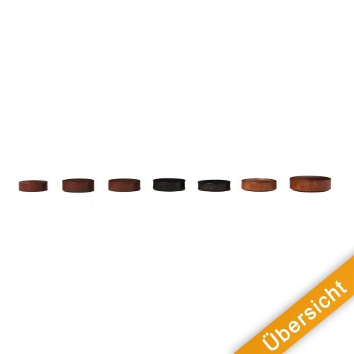 Holz schwarz Spielsteine 28 x 7 mm rund