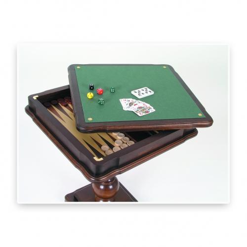 schach und backgammon tisch raminholz ebay. Black Bedroom Furniture Sets. Home Design Ideas