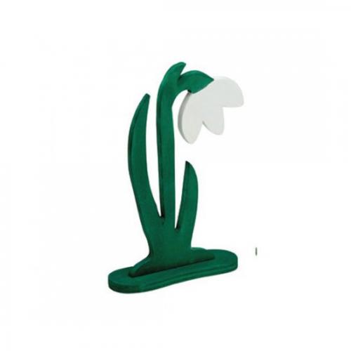 holzblumen schneegl ckchen handbemalt 20 cm kaufen. Black Bedroom Furniture Sets. Home Design Ideas