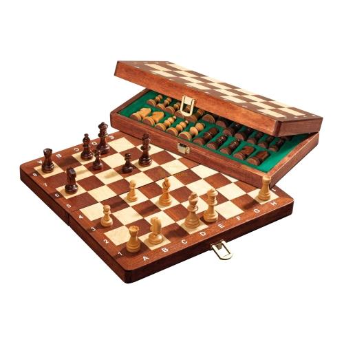 Gioco degli scacchi-Scacchi da viaggio-magneticamente-standard-larghezza ca 30 cm