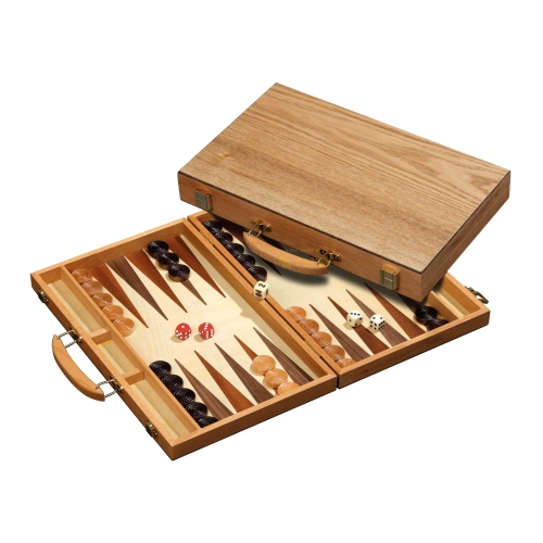 backgammon koffer meneaos holz standard ebay. Black Bedroom Furniture Sets. Home Design Ideas