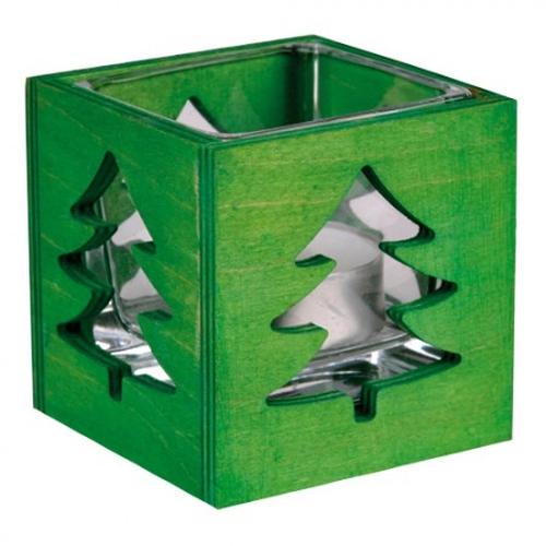 windlicht stimmungslicht tanne mit teelichtglas. Black Bedroom Furniture Sets. Home Design Ideas