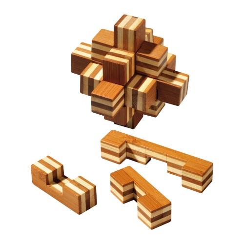 sternpuzzle bambus 9 puzzleteile denkspiel