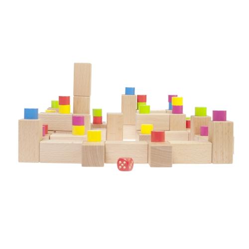 ein dreidimensionales Würfelspiel Baubylon