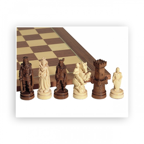 Chess figures nice carved maple kings height 3 9 10in - Chess nice image ...