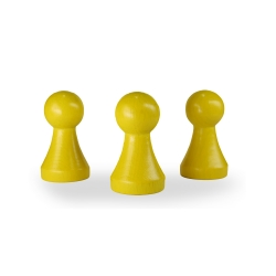 Halmakegel.com Halmakegel XXL - Pöppel - Holz - gelb - 50 x 28 mm 241324