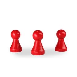 Spielfigur Holz - pöppel - rot