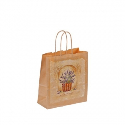 Bethel proWerk Papiertasche Lavendel - klein - umweltfreundlich - 18 x 21 cm 258642