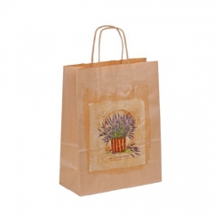 Bethel proWerk Papiertasche Lavendel - groß - umweltfreundlich - 24 x 32 cm 258643