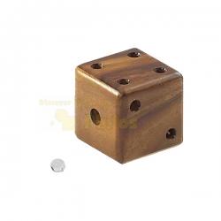 Denk- und Knobelspiele Würfel mit Murmel - Denkspiel - Knobelspiel - Geduldspiel