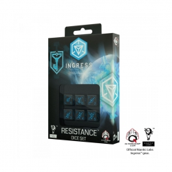 q-workshop Ingress Dice - Ingress D6 Dice Set - Resistance (6) 275205
