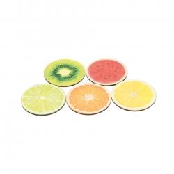 holzspielerei Getränke-Untersetzer Früchte Set 281220