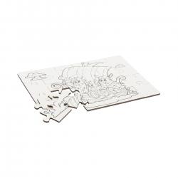 holzspielerei Mal-Puzzle Wikinger 24 Teile 281244