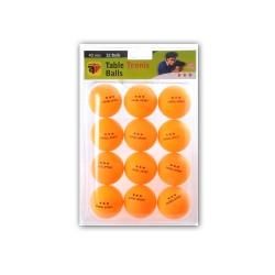 Weible Tischtennis - Bälle - 3-Stern - orange - 12 Stück