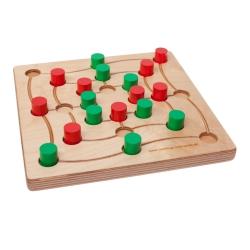 intellego holzspiele Quadlino und Mühle - color - Ein Spiel fürs Leben