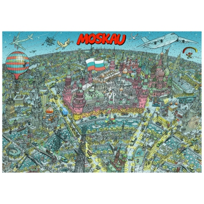 Moskau - Poster - DIN A1
