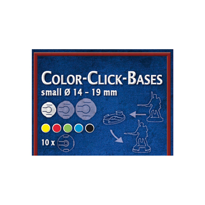 Color-Click Bases Small (10) - 14-19mm RED