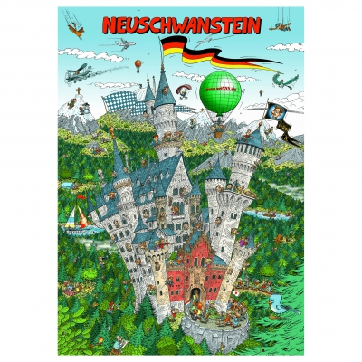 Neuschwanstein - jigsaw puzzlebox