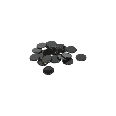 playing chips - gaming piece - 15 mm - black - Brettspiele
