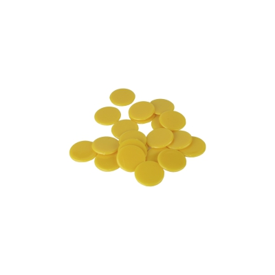 playing chips - gaming piece - 15 mm - yellow