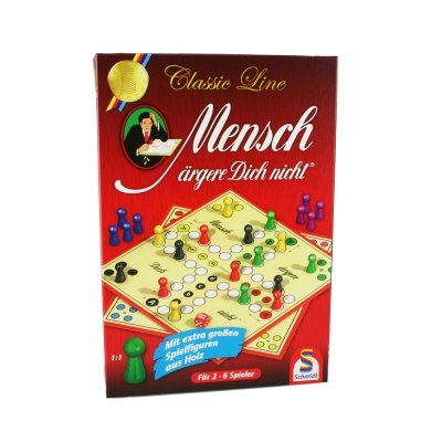 Mensch ärgere Dich nicht - Ludo - a simple board game - large wooden playing pieces