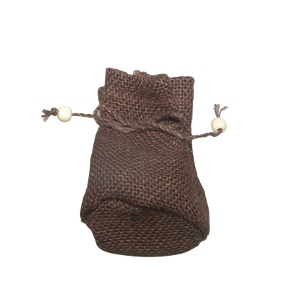 Jute fabric bags - ca. 10 x 7,5 cm - brown