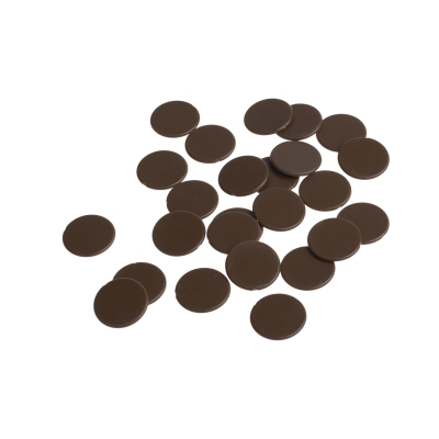 playing chips - gaming piece - 22mm - brown - mat