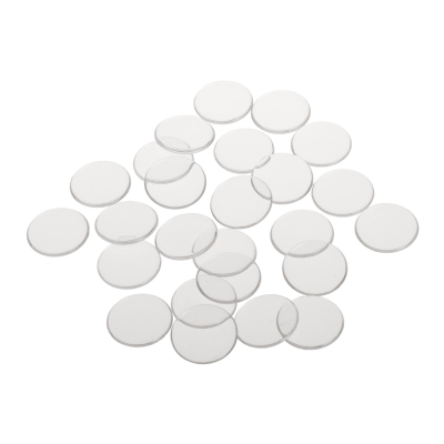 playing chips - gaming token - 22 mm - white - transparent
