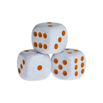 Dice - springfield - orange - plastic - 16 mm