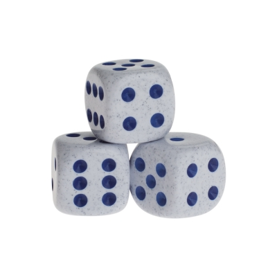 Dice - springfield - blue - plastic - 16 mm