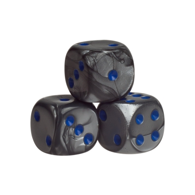 Dice - london - blue - plastic - 16 mm