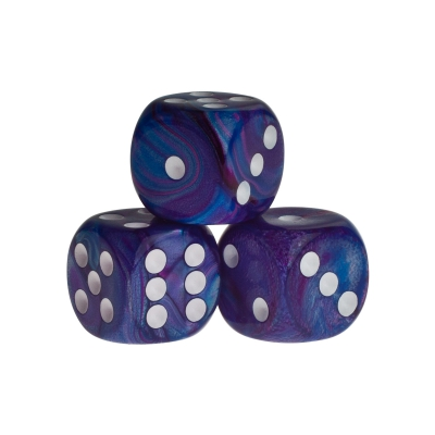 Dice - rio - blue - plastic - 16 mm