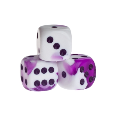 Dice - Berlin - purple - plastic - 16 mm