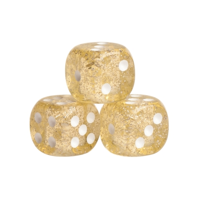 Dice - Peking - light yellow - plastic - 16 mm