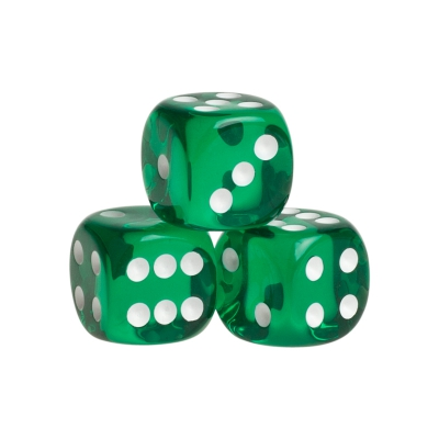 Dice - Venedig - green - plastic - 16 mm