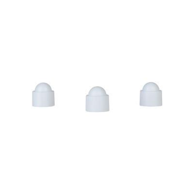 Playing piece Tower - stackable movers - white - plastic - 12 x 13  mm