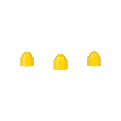 Playing piece Tower - stackable movers - yellow - plastic - 12 x 13 mm