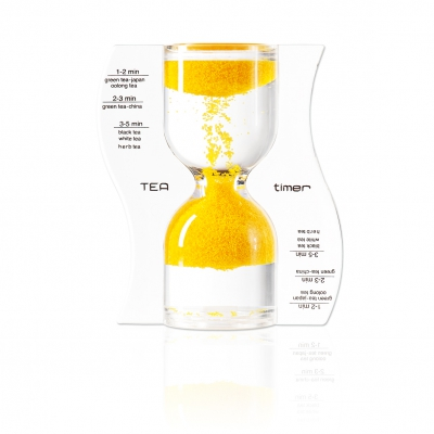 Hourglass - TEA timer - yellow - 5 minutes
