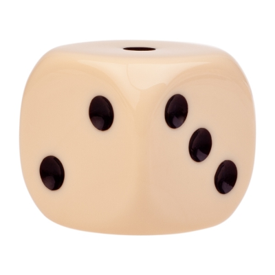 Dice (6) - ivory - plastic material - 35 mm