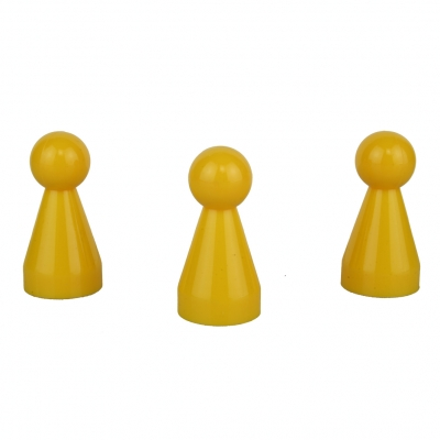 Chinese checkers pieces - Meeple - yellow - KS - 20 x 40 mm
