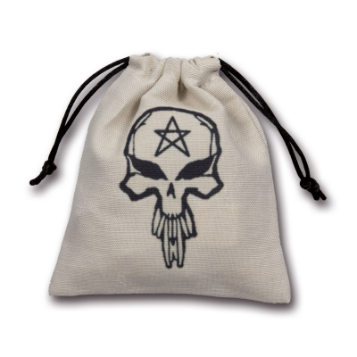 Skull Dice Bag - beige