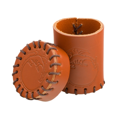 Dragon Leather Cup - brown