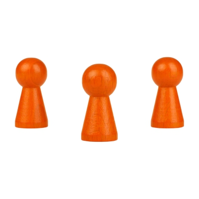 Halmakegel - Hyde  - 19x40mm - orange - Brettspiele