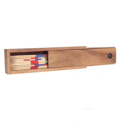 Mikado - Pick-up sticks - 18 cm - in a wooden box - bamboo - semana